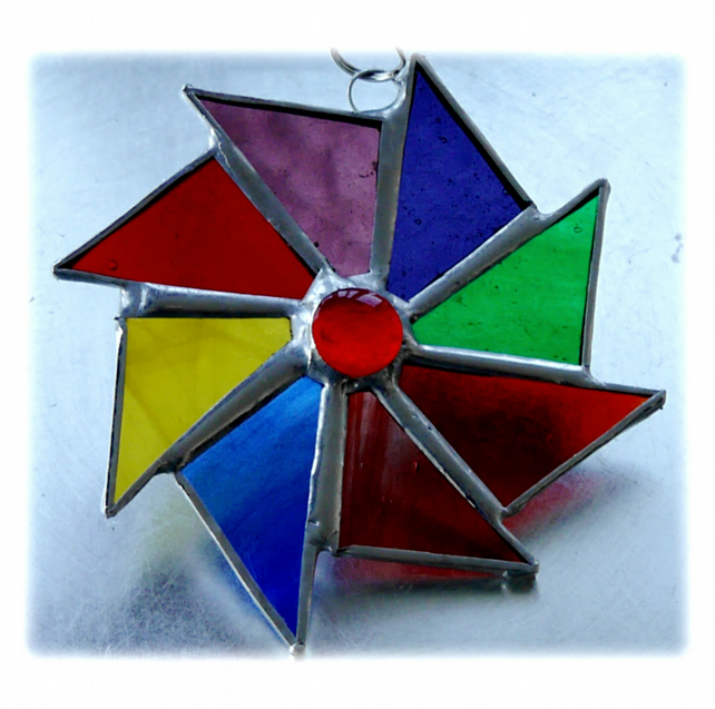 Colour Wheel Suncatcher Stained Glass Rainbow 018