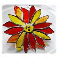 Sun Flower Stained Glass Suncatcher Handmade Sunflower