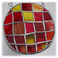 Sun Spot Stained Glass Handmade Patchwork Ring