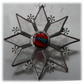 Sparkly Star Suncatcher Stained Glass Snowflake Red Handmade 9.5cm 079
