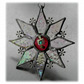 Sparkly Star Suncatcher Stained Glass Snowflake Cranberry Handmade 9.5cm 080