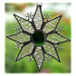 Sparkly Star Suncatcher Stained Glass Snowflake Green Handmade 9.5cm 081