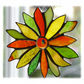 Citrus Flower Stained Glass Suncatcher
