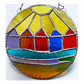 Beach Hut Ring Stained Glass Handmade Sunshine 002