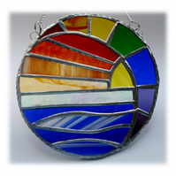 Rainbow Sunset Sea Suncatcher Stained Glass