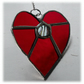 Love Heart (Dichroic) Stained Glass Suncatcher 8cm