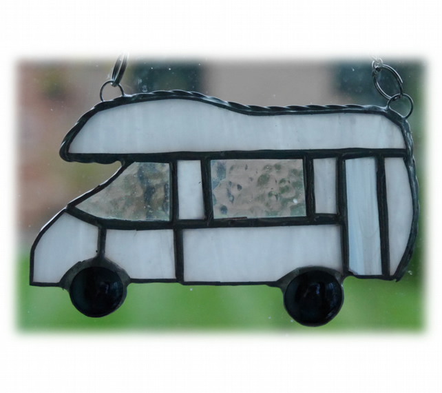 Motorhome Suncatcher Stained Glass Compass Drifter Campervan 019