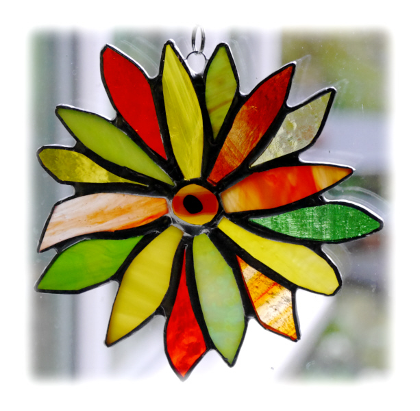 Citrus Flower Stained Glass Suncatcher 002