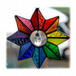 Star Rainbow Crystal Stained Glass Suncatcher