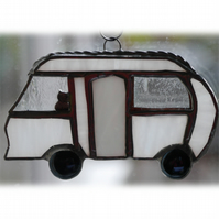 Classic Motorhome Stained Glass Suncatcher Mini 019