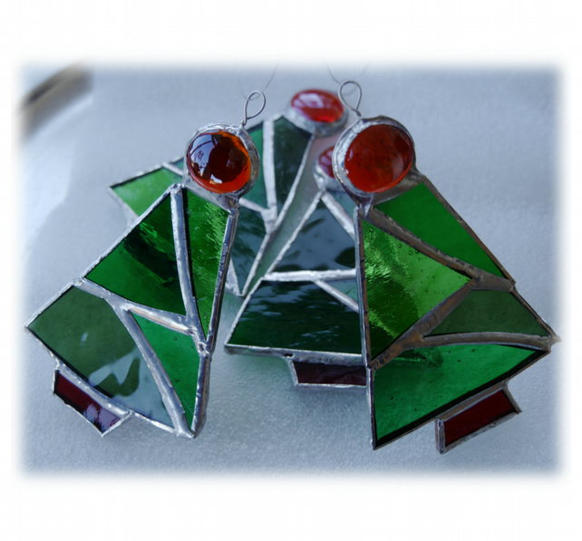 Christmas Tree Stained Glass suncatcher Xmas decoration