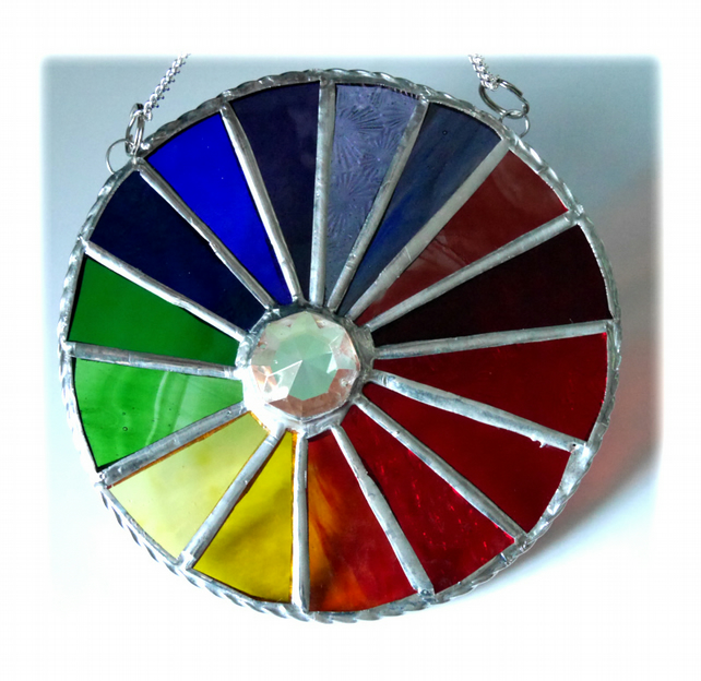Spectrum Crystal Ring Suncatcher Stained Glass Rainbow