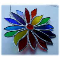Sold Rainbow Flower Stained Glass Suncatcher 044