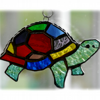 Suncatcher Stained Glass Tortoise Handmade Rainbow  015 Turtle