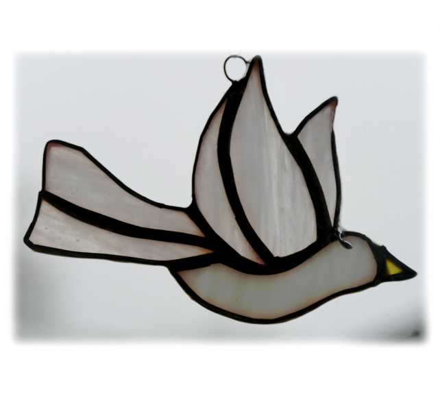 Dove Suncatcher Stained Glass Peace 028 Bird