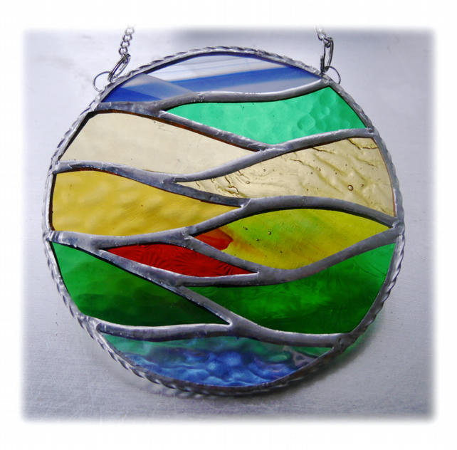 Golden Fields Stained Glass Suncatcher Ring