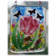 Tulip Picture Fused Glass Flower 008