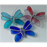 Trio of Butterflies Stained Glass Suncatcher 010