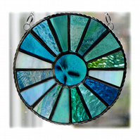 Colour Wheel Suncatcher Stained Glass Handmade Sea Marine 006