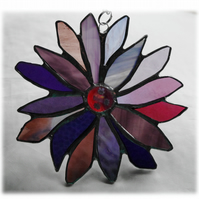 Purple Flower Stained Glass Suncatcher 010