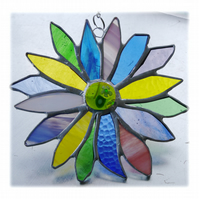 Spring Flower Stained Glass Suncatcher Vernal Equinox 003