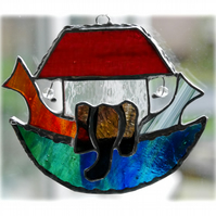 Noahs Ark Suncatcher Stained Glass Handmade 024