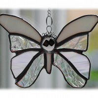 Birthstone Butterfly Suncatcher Stained Glass Pearl June