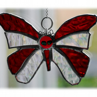 Birthstone Butterfly Suncatcher Stained Glass Garnet January