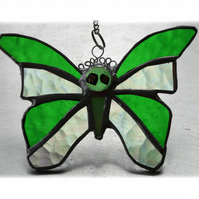 Birthstone Butterfly Suncatcher Stained Glass Peridot August