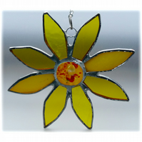 Sunflower Suncatcher Handmade Stained Glass 034