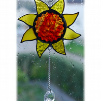 Sun Suncatcher Stained Glass Handmade Sunshine 010