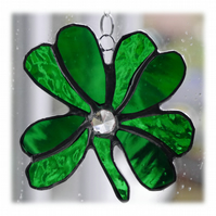 Leaf Clover Leaf Suncatcher Stained Glass Lucky 003