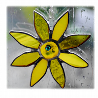 Sunflower Suncatcher Handmade Stained Glass 031