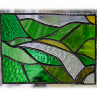 River Valley Panel Stained Glass Landscape Picture Wye 006