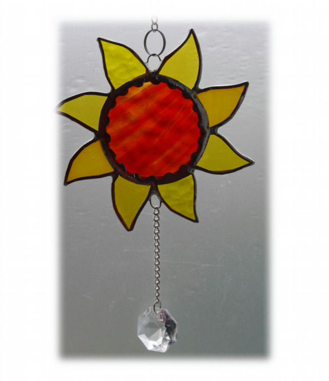 Sun Suncatcher Stained Glass Handmade Sunshine 011