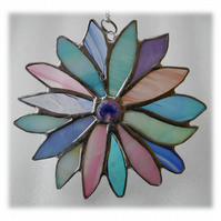 Pastel Flower Stained Glass Suncatcher Fondant Icecream 011