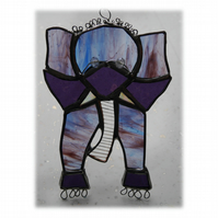 Elephant Stained Glass Suncatcher  Handmade
