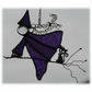 Witch on Broomstick Suncatcher Stained Glass 039 Purple