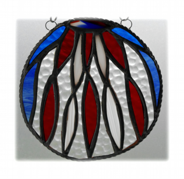 May Pole Stained Glass Suncatcher Patriotic British