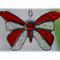 Birthstone Butterfly Suncatcher Stained Glass Ruby July