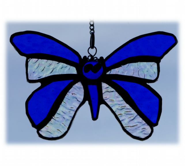 Birthstone Butterfly Suncatcher Stained Glass Sapphire September