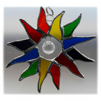 Rainbow Sun Suncatcher Stained Glass 002