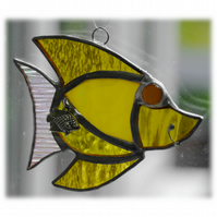Fish Suncatcher Stained Glass Yellow