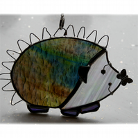 Hedgehog Suncatcher Stained Glass Handmade 029 Right