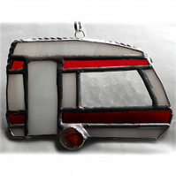 Caravan Suncatcher Stained Glass Classic Red 041