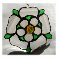 Yorkshire Rose Suncatcher Stained Glass 034