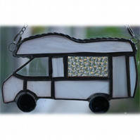 Motorhome Suncatcher Stained Glass Compass Drifter Campervan 020