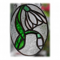Snowdrop Stained Glass Suncatcher Flower 019