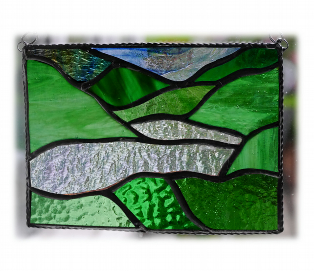 Lake District Panel Stained Glass Picture Landscape 005
