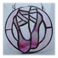 Ballet Shoes Suncatcher Stained Glass Pink 004